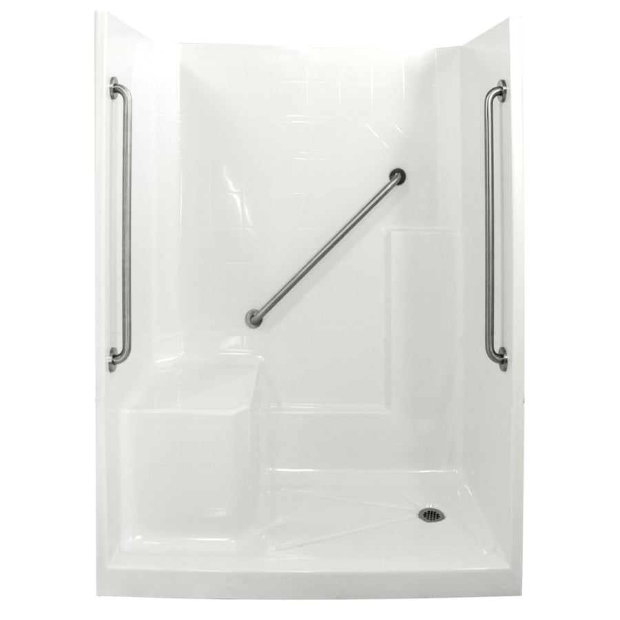Ella's Bubbles Shower Wall Surround Side and Back Panels with Floor (Common: 33-in; Actual: 77-in x 33-in)