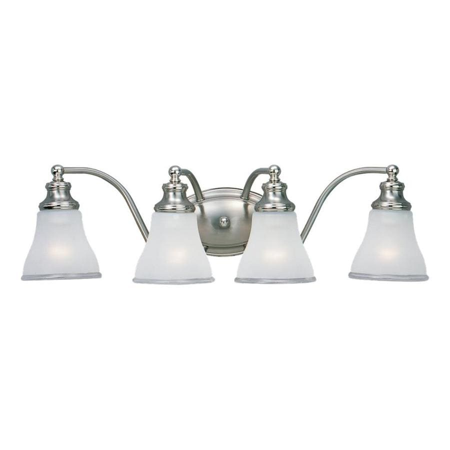 Sea Gull Lighting 4-Light Alexandria Two-Tone Nickel Bathroom Vanity Light