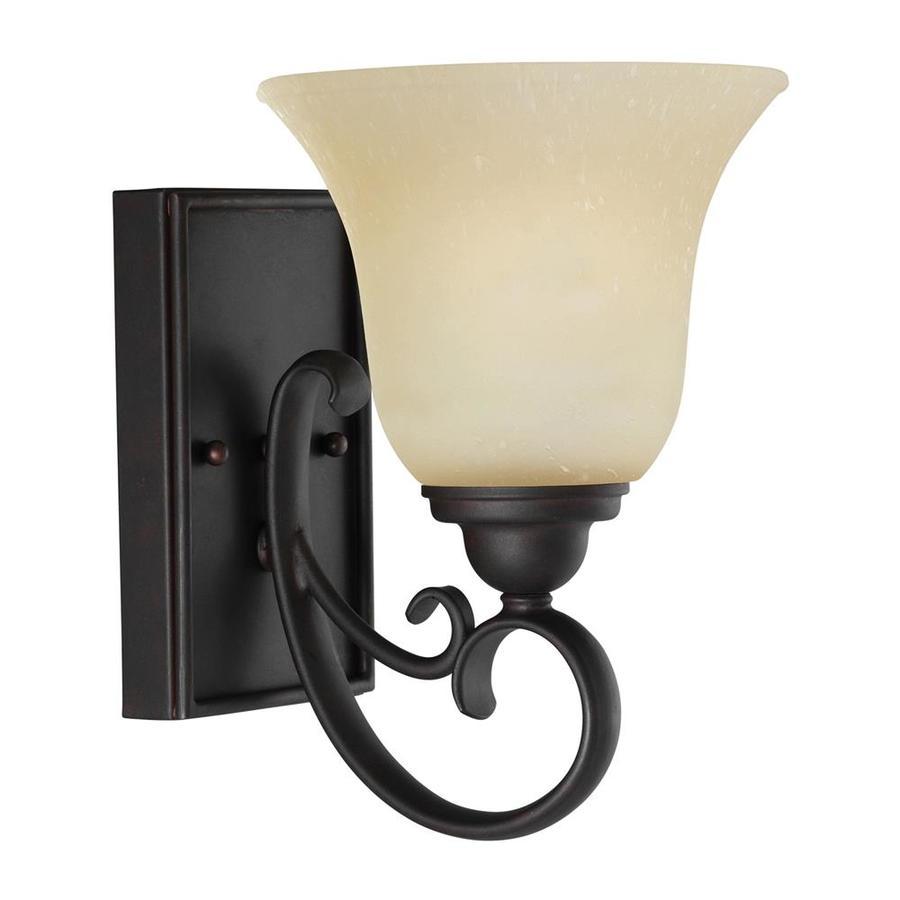 Sea Gull Lighting 1-Light Del Prato Chestnut Bronze Bathroom Vanity Light