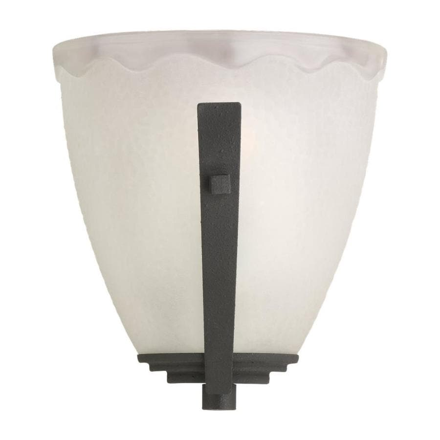 Shop Sea Gull Lighting 1-Light Decorative Wall Sconce Blacksmith Bathroom Vanity Light at Lowes.com