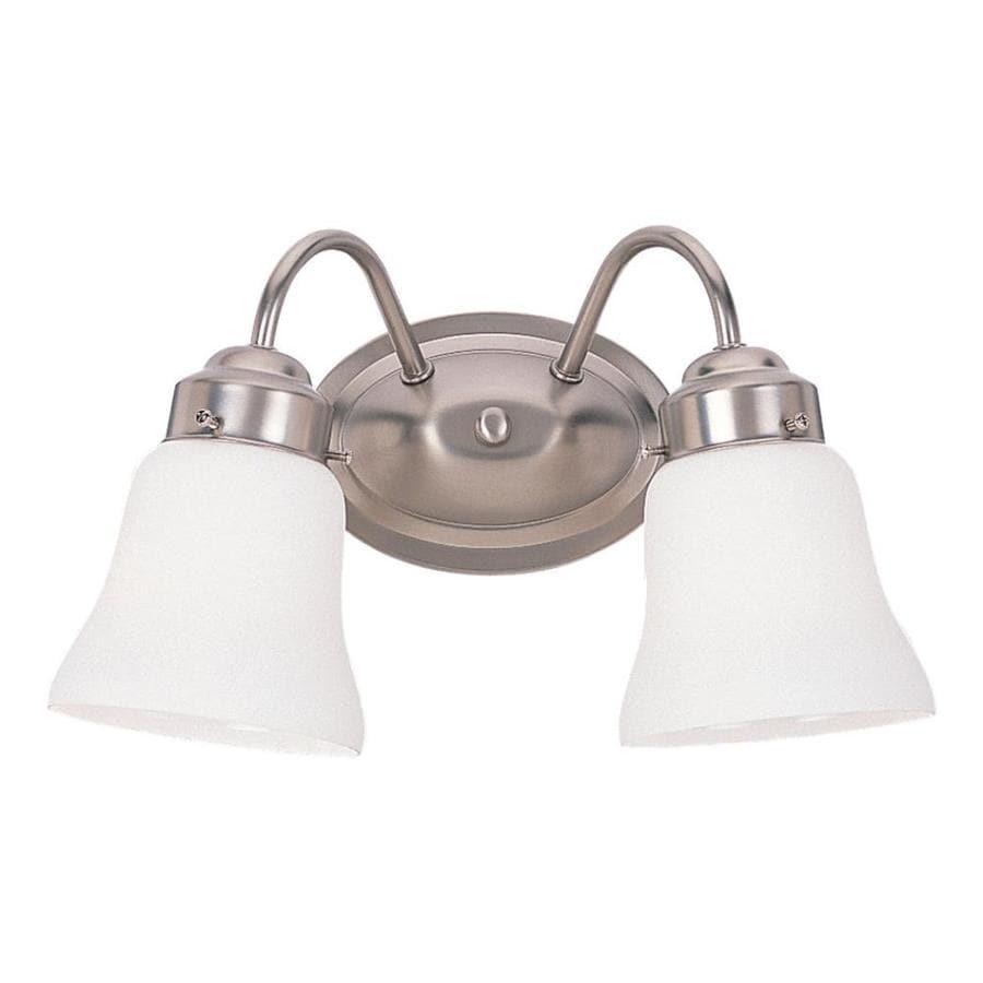 Sea Gull Lighting 2-Light Westmont Brushed Nickel Bathroom Vanity Light