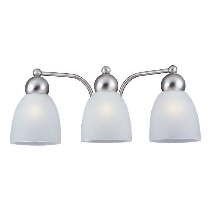 gull lighting 3 light metropolis brushed nickel bathroom vanity light. Black Bedroom Furniture Sets. Home Design Ideas