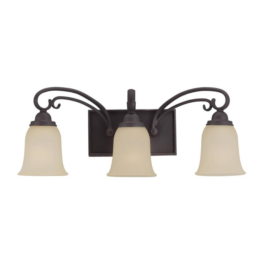 Sea Gull Lighting 3-Light Del Prato Chestnut Bronze Bathroom Vanity Light