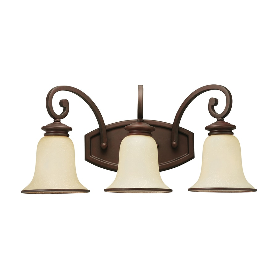 Vanity Lights Bathroom Lowes : Shop Sea Gull Lighting 3-Light Acadia Misted Bronze Bathroom Vanity Light at Lowes.com