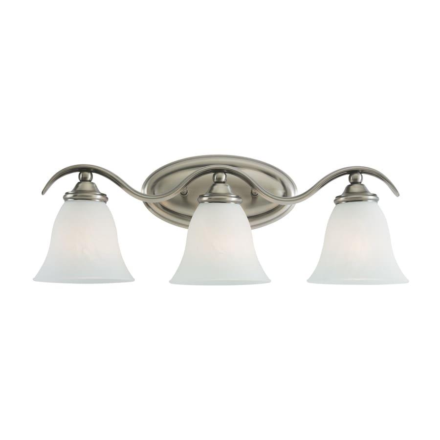 Shop Sea Gull Lighting 3 Light Rialto Antique Brushed Nickel Bathroom Vanity Light At