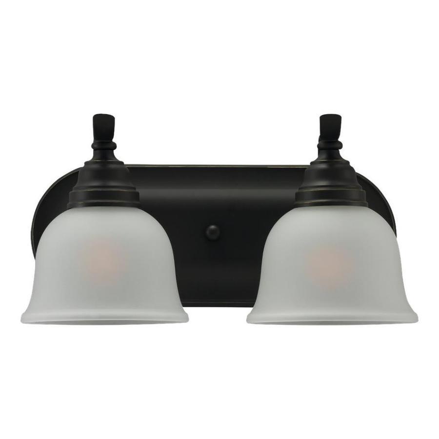 Sea Gull Lighting 2-Light Wheaton Heirloom Bronze Bathroom Vanity Light
