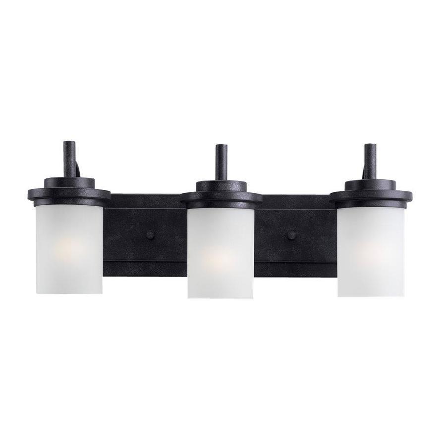 Sea Gull Lighting 3-Light Winnetka Blacksmith Bathroom Vanity Light