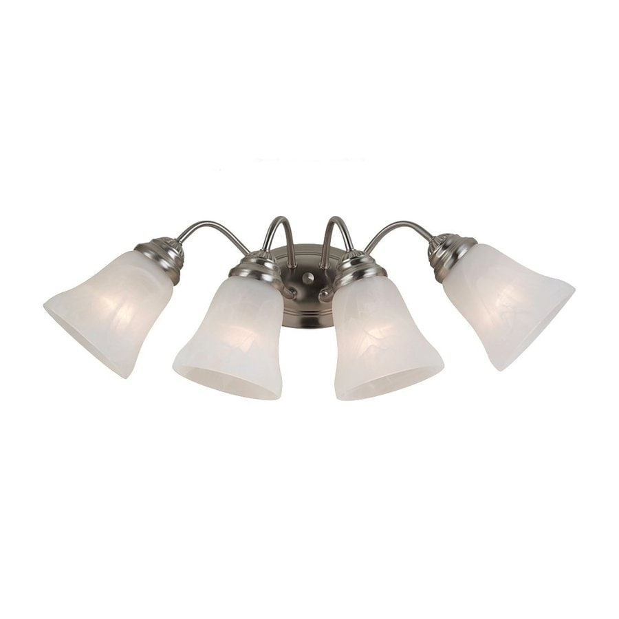 lighting 4 light oaklyn brushed nickel bathroom vanity light at lowes. Black Bedroom Furniture Sets. Home Design Ideas