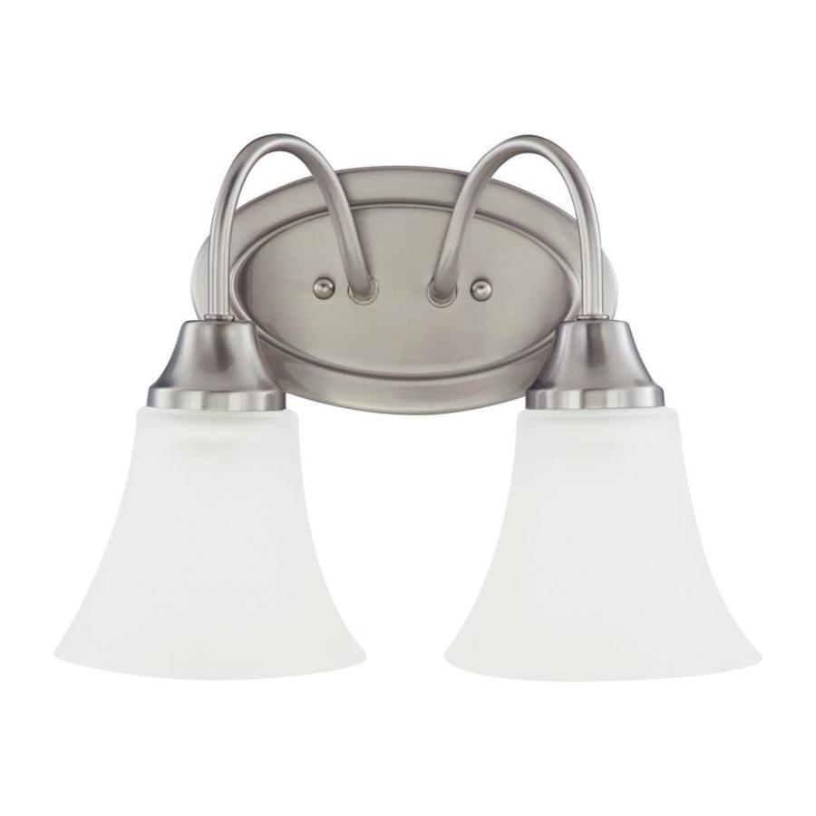 Sea Gull Lighting 2-Light Holman Brushed Nickel Bathroom Vanity Light