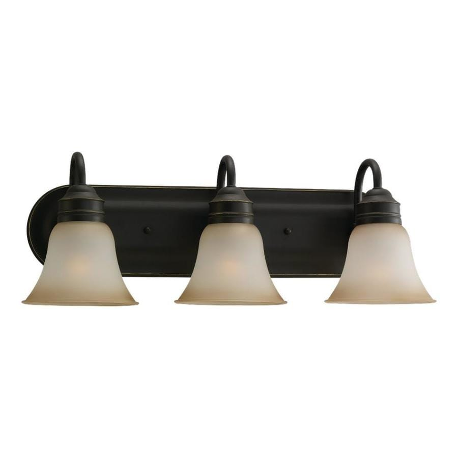 Vanity Lights Bronze : Shop Sea Gull Lighting 3-Light Gladstone Heirloom Bronze Bathroom Vanity Light at Lowes.com