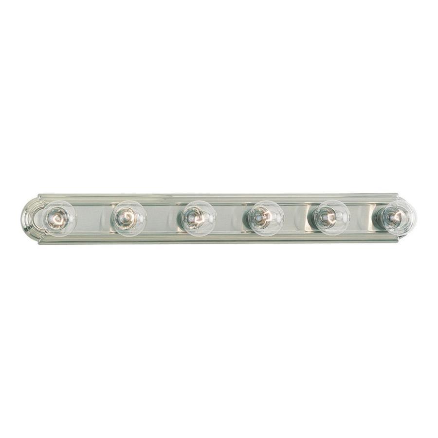 Sea Gull Lighting 6-Light De-Lovely Brushed Nickel Bathroom Vanity Light
