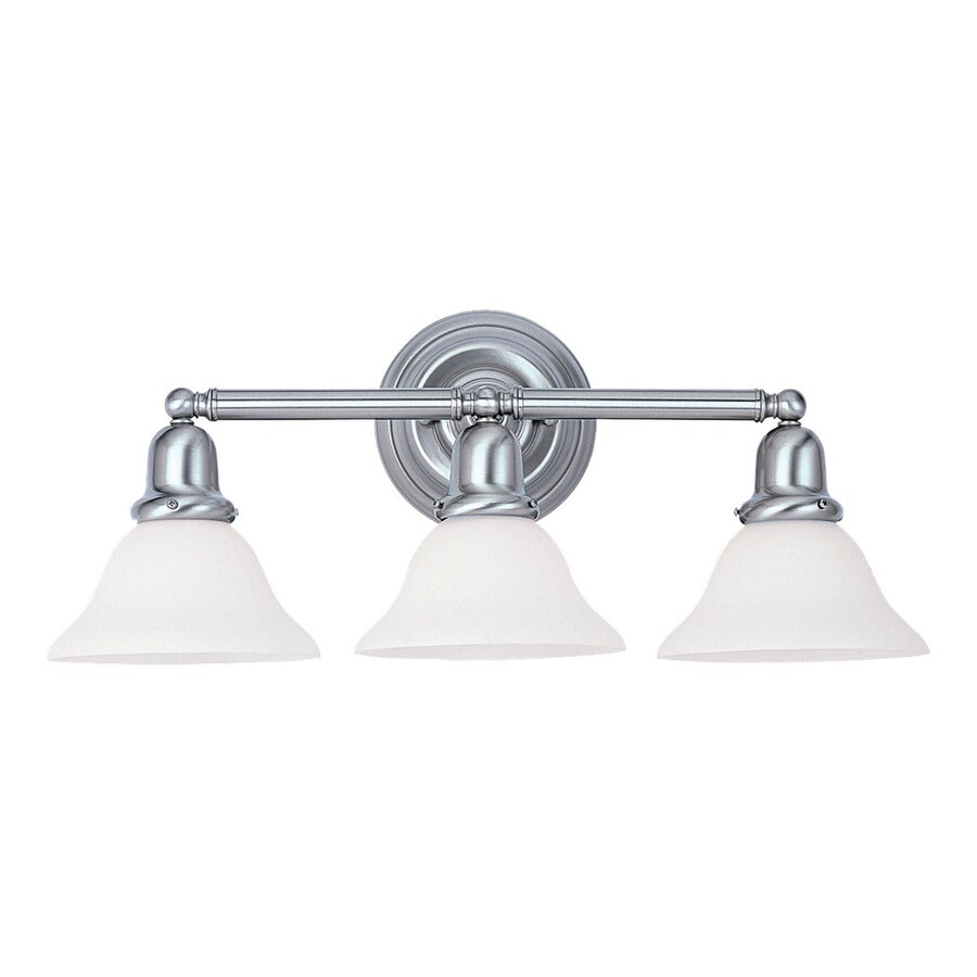 Shop Sea Gull Lighting 3 Light Sussex Brushed Nickel Bathroom Vanity Light At