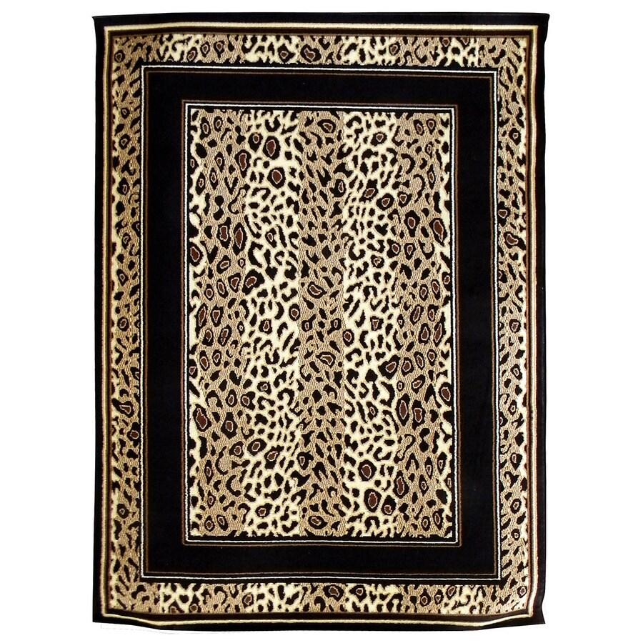 DonnieAnn African Adventure Brown Rectangular Indoor Machine-Made Area Rug (Common: 5 x 7; Actual: 62-in W x 84-in L)