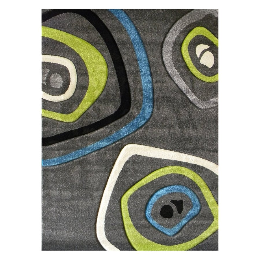 DonnieAnn Studio Design Charcoal Rectangular Indoor Machine-Made Area Rug (Common: 5 x 7; Actual: 62-in W x 84-in L)