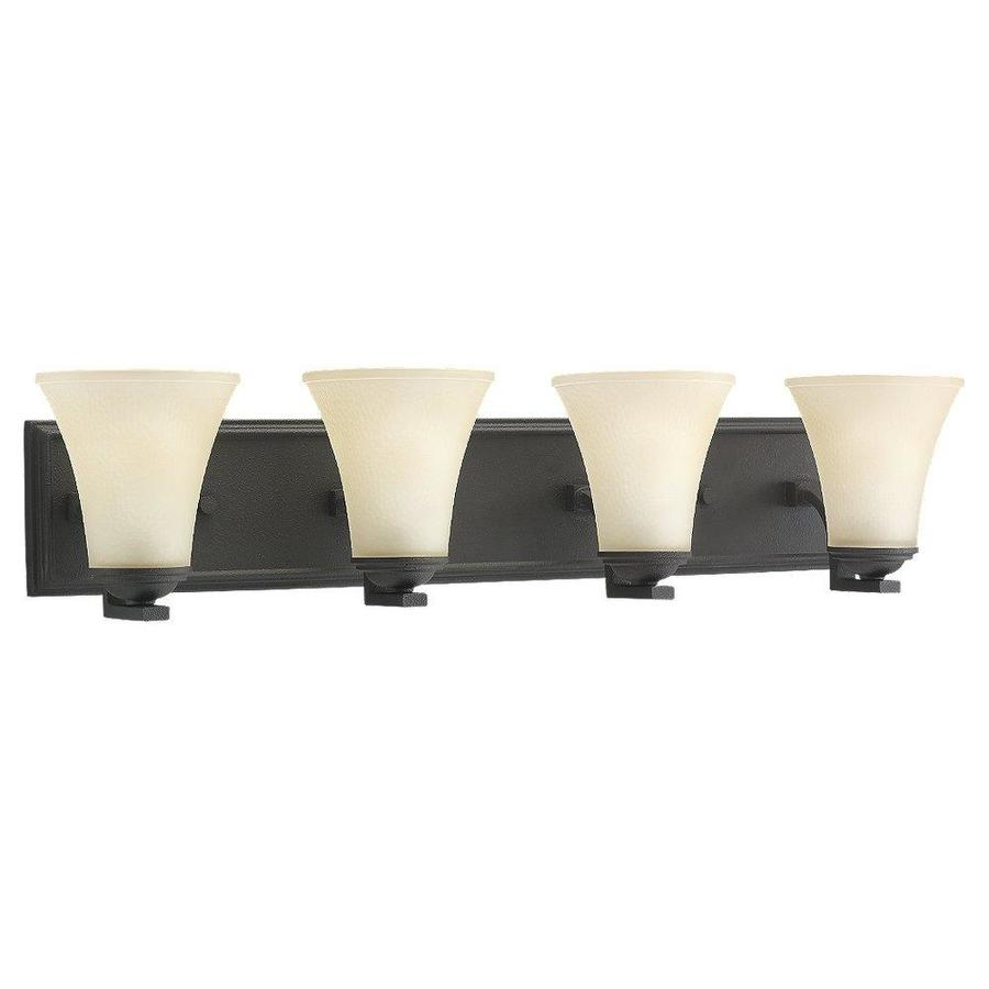 Sea Gull Lighting 4-Light Somerton Blacksmith Bathroom Vanity Light