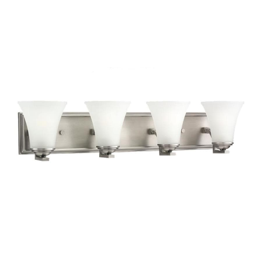 4 Light Brushed Nickel Vanity Lights : Shop Sea Gull Lighting 4-Light Somerton Antique Brushed Nickel Bathroom Vanity Light at Lowes.com