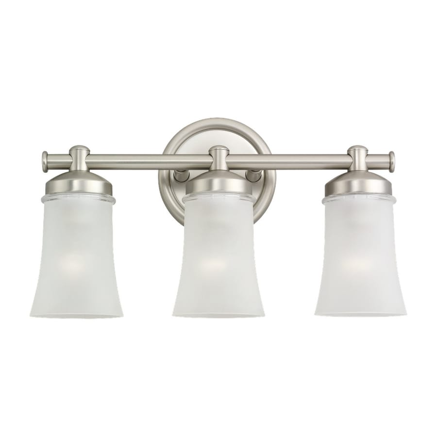 Shop Sea Gull Lighting 3 Light Newport Antique Brushed Nickel Bathroom Vanity Light At