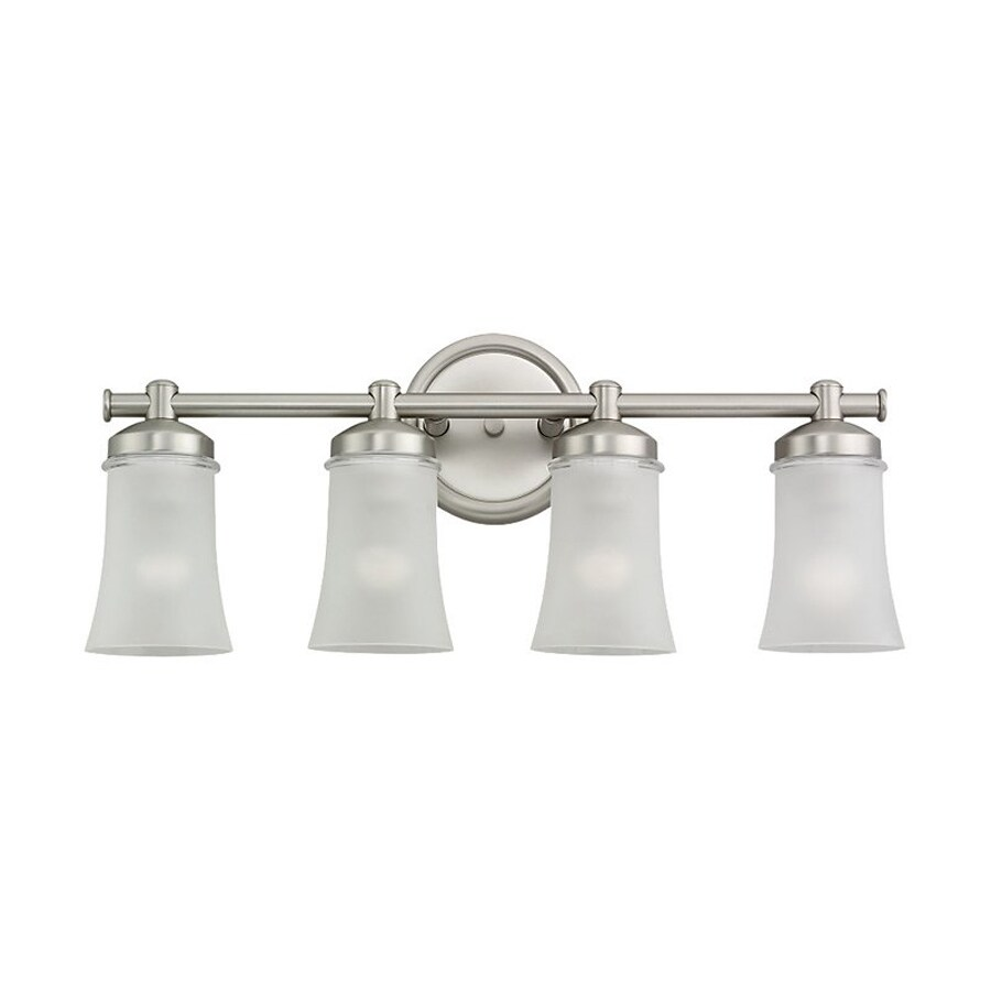 4 Light Brushed Nickel Vanity Lights : Shop Sea Gull Lighting 4-Light Newport Antique Brushed Nickel Bathroom Vanity Light at Lowes.com