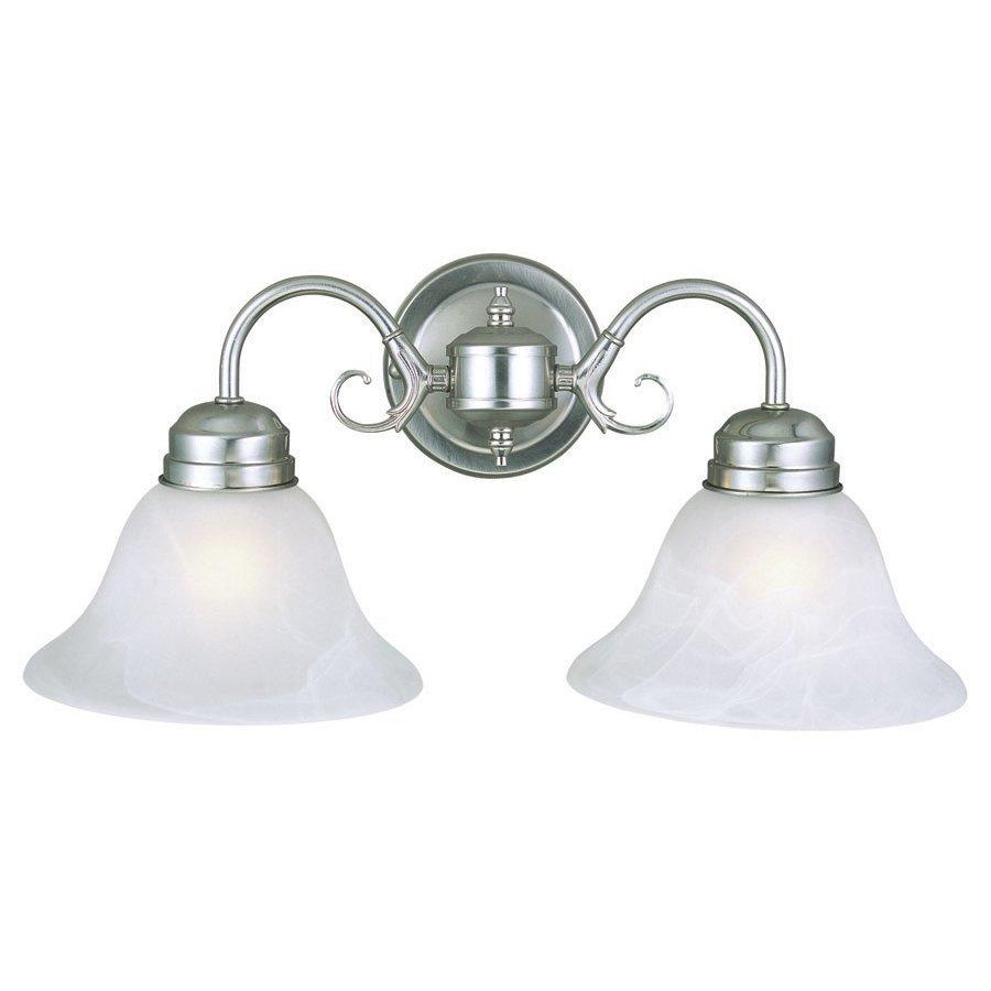 Design House Millbridge 2-Light Satin Nickel Bell Vanity Light