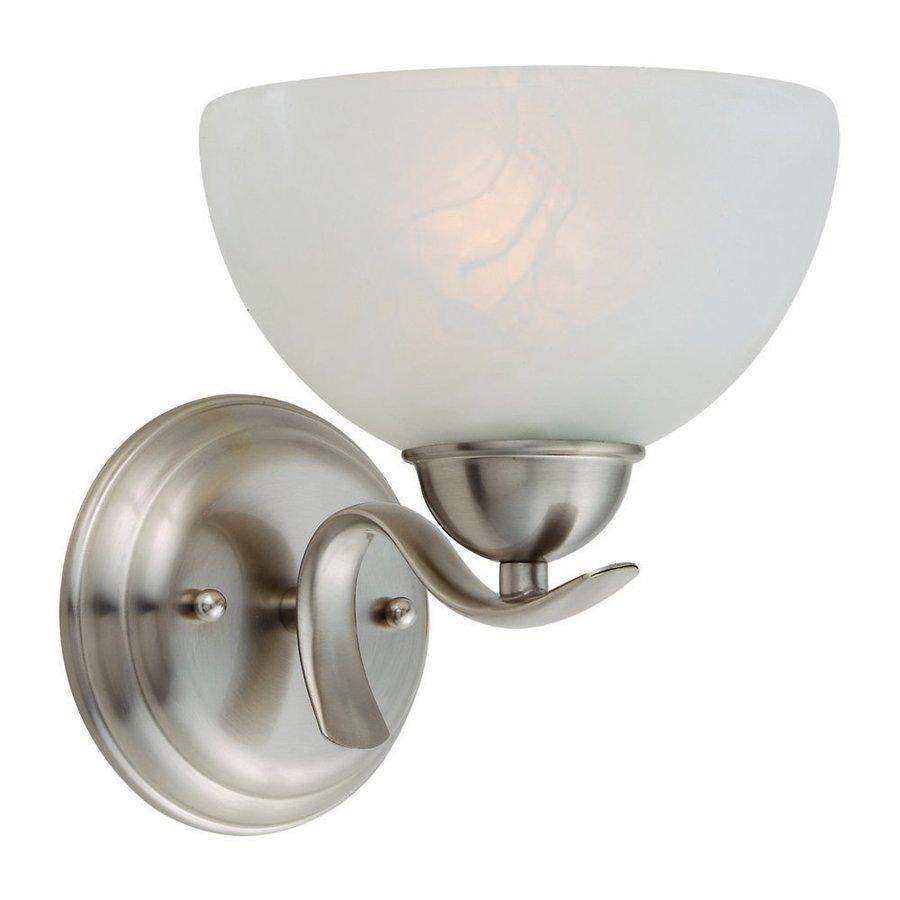 Design House Trevie 1-Light Satin Nickel Bowl Vanity Light