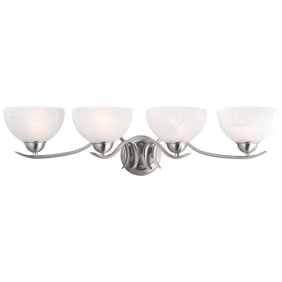 Design House Trevie 4-Light Satin Nickel Bowl Vanity Light
