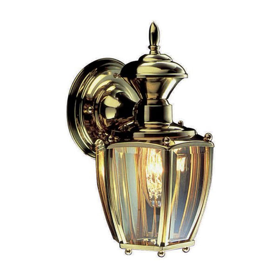 Design House Jackson 10.875-in H Antique Brass Outdoor Wall Light