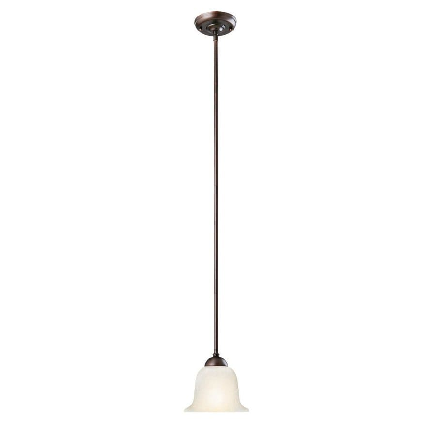 Design House Ironwood 6.75-in Brushed Bronze Country Cottage Mini Bell Pendant