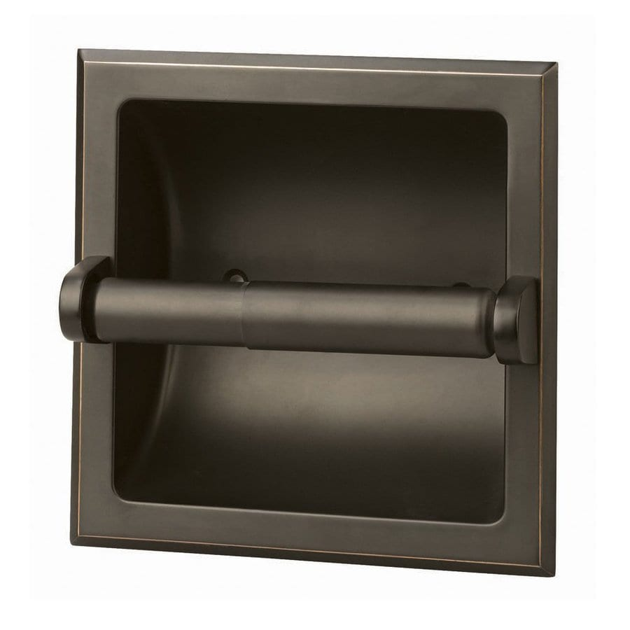 Shop design house millbridge oil rubbed bronze recessed for Placement of toilet paper holders in bathrooms