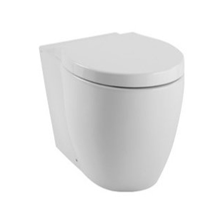 Nameeks Panorama Standard Height White 14-in Rough-In Elongated Toilet Bowl