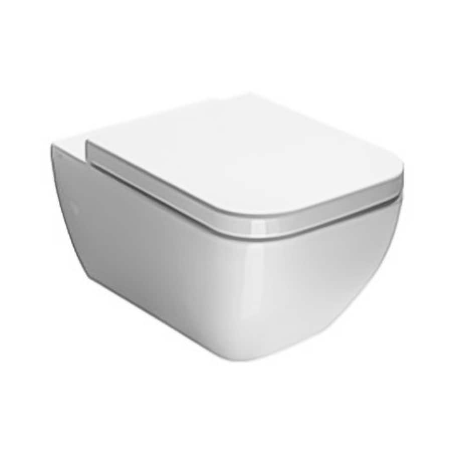 Nameeks Traccia Standard Height White Wall-Hung Elongated Toilet Bowl