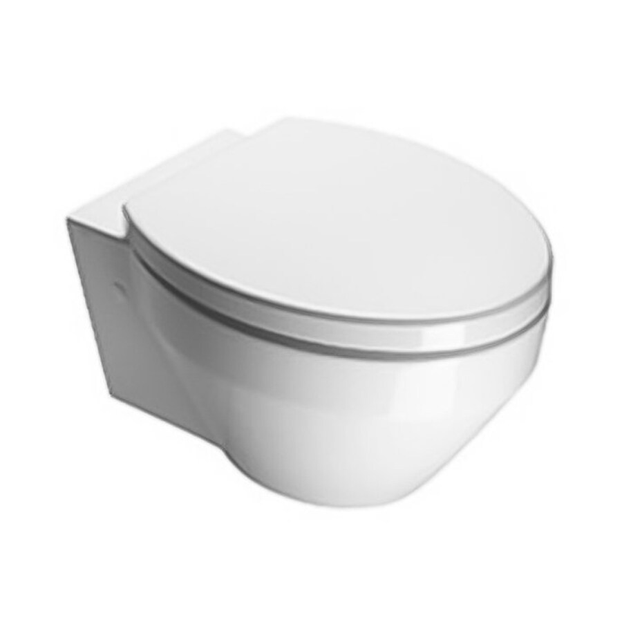 Nameeks Losagna Standard Height White Wall-Hung Rough-In Elongated Toilet Bowl