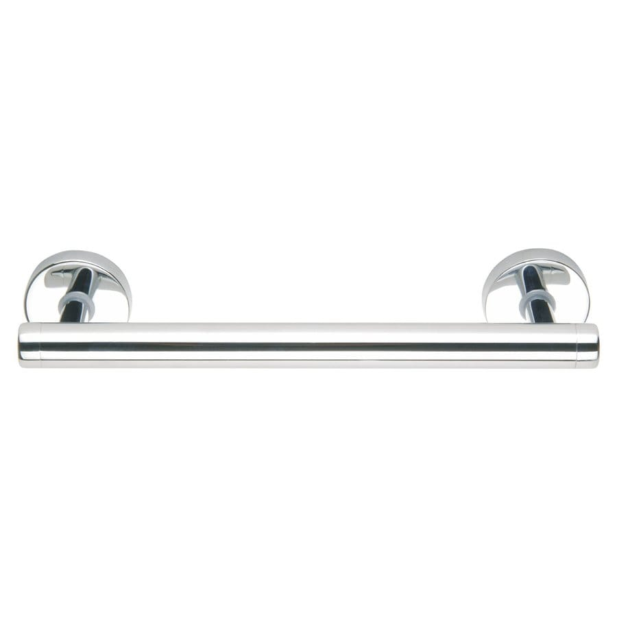No Drilling Required 12-in Chrome Wall Mount Grab Bar