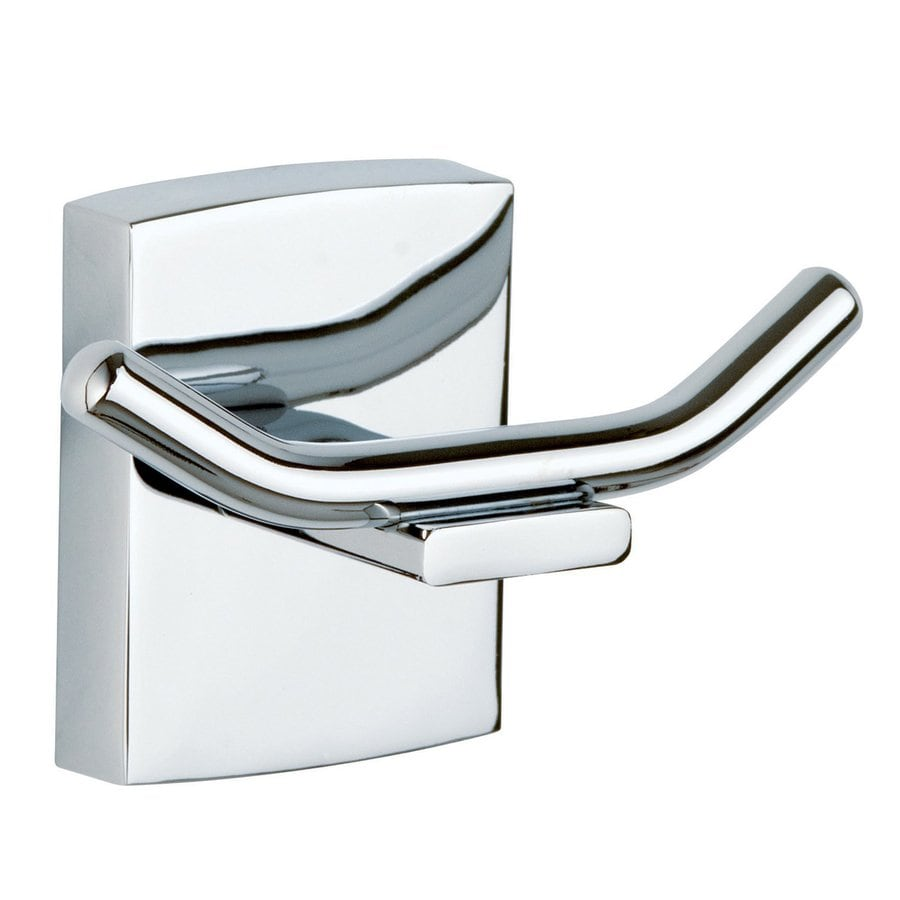 No Drilling Required Klaam 2-Hook Chrome Robe Hook