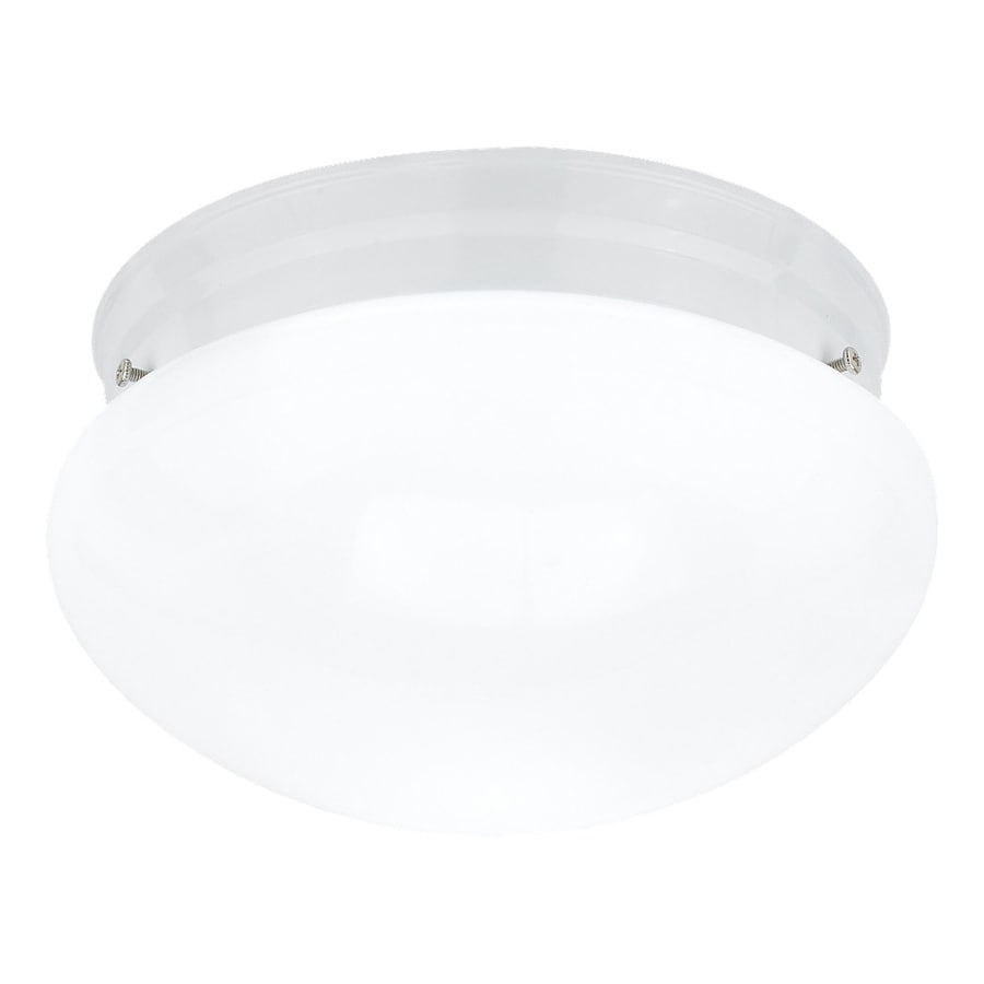 Sea Gull Lighting Webster 9.5-in W White Ceiling Flush Mount Light
