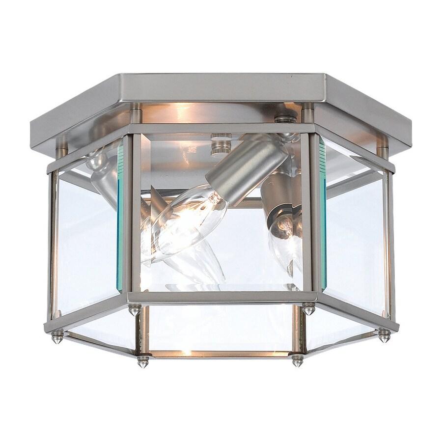 Sea Gull Lighting Bretton 10-in W Brushed Nickel Ceiling Flush Mount Light