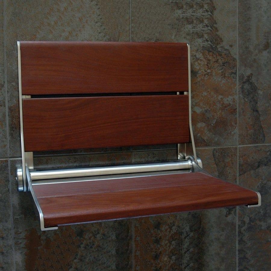 Health Craft Brazillian Walnut Wood Wall Mount Shower Chair