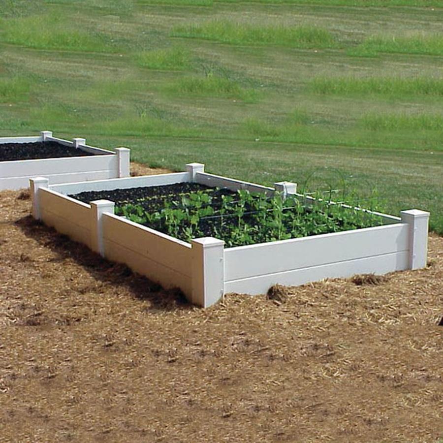 Dura-Trel 48-in W x 48-in L x 14-in H White Raised Garden Bed