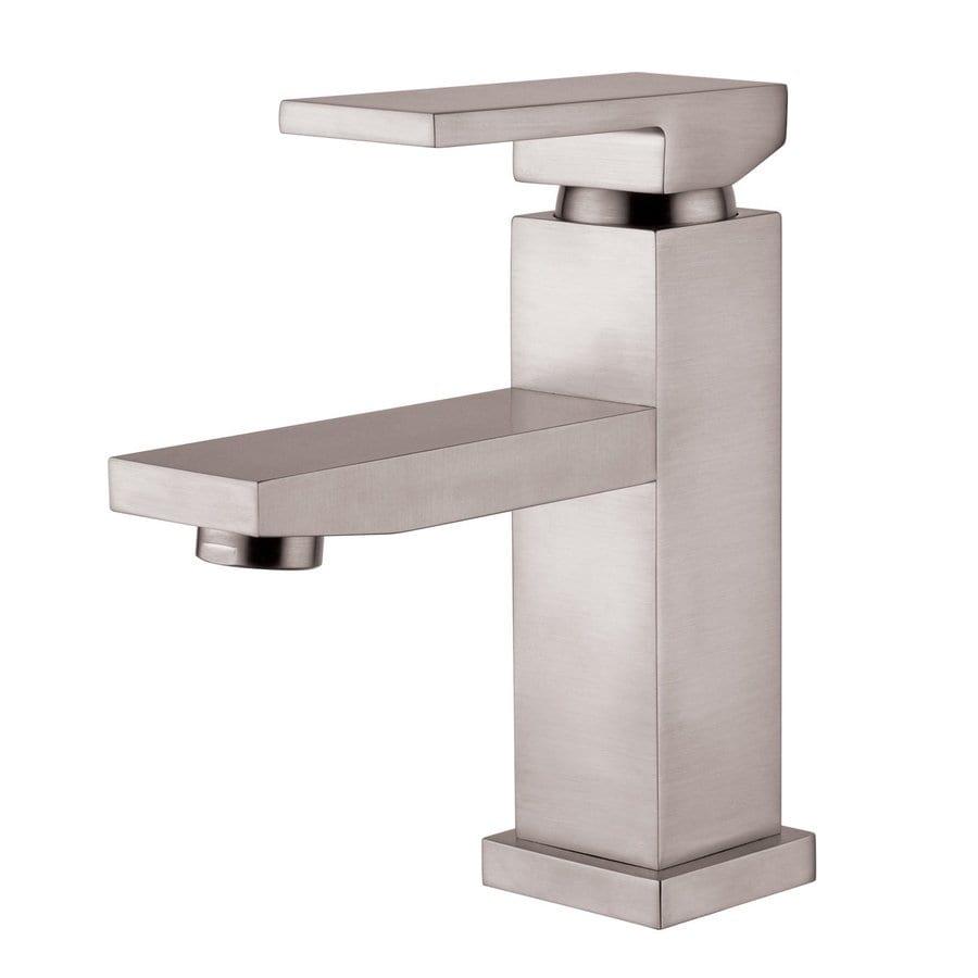Yosemite Home Decor Brushed Nickel 1-Handle Single Hole WaterSense Bathroom Faucet