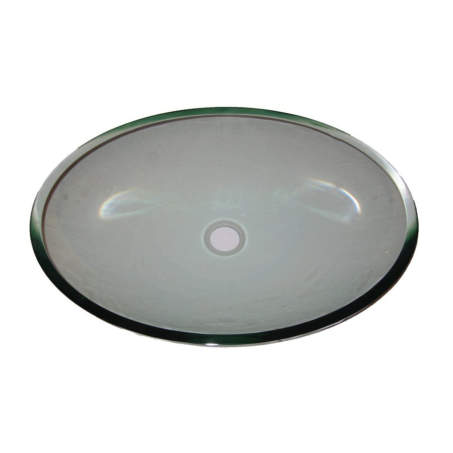 Novatto Ovale Clear Tempered Glass Vessel Round Bathroom Sink