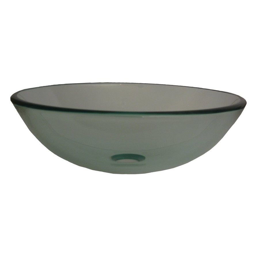 Shop Novatto Bonificare Clear Tempered Glass Vessel Round Bathroom Sink At Lowes Com