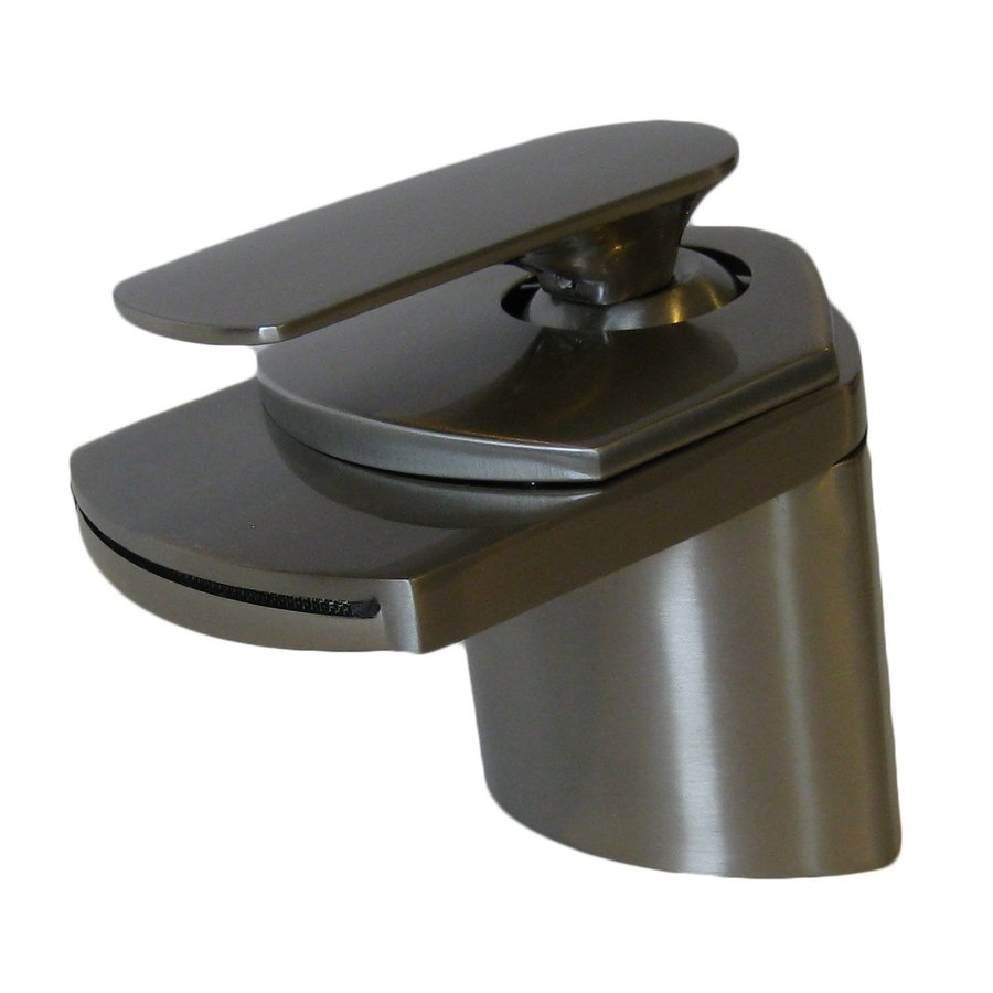 Novatto Waterfall Brushed Nickel 1-Handle Vessel Bathroom Faucet