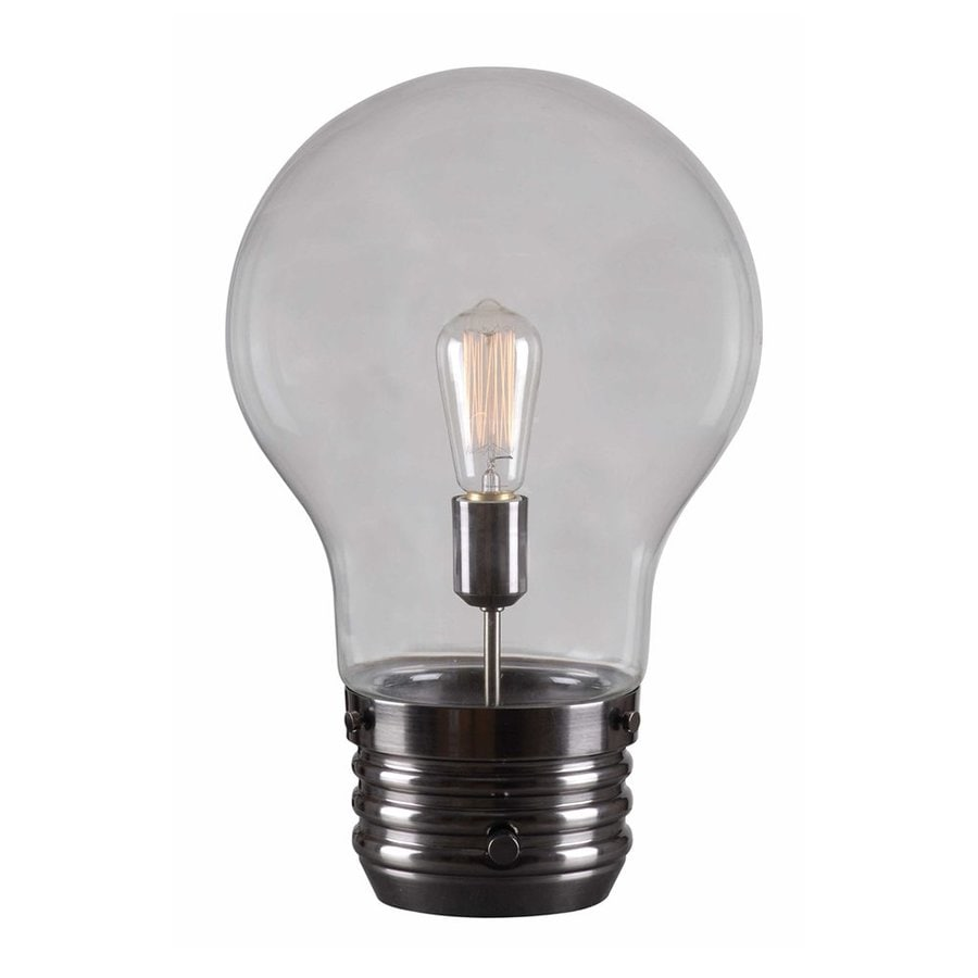 Novelty Lamp Bases : Shop Kenroy Home Edison 18-in Antique Brass Novelty Indoor Table Lamp with Glass Shade at Lowes.com