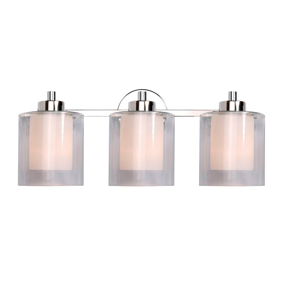 Polished nickel bathroom lighting
