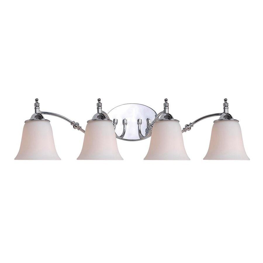 Kenroy Home 4-Light Rumson Satin Opal/Chrome Bathroom Vanity Light
