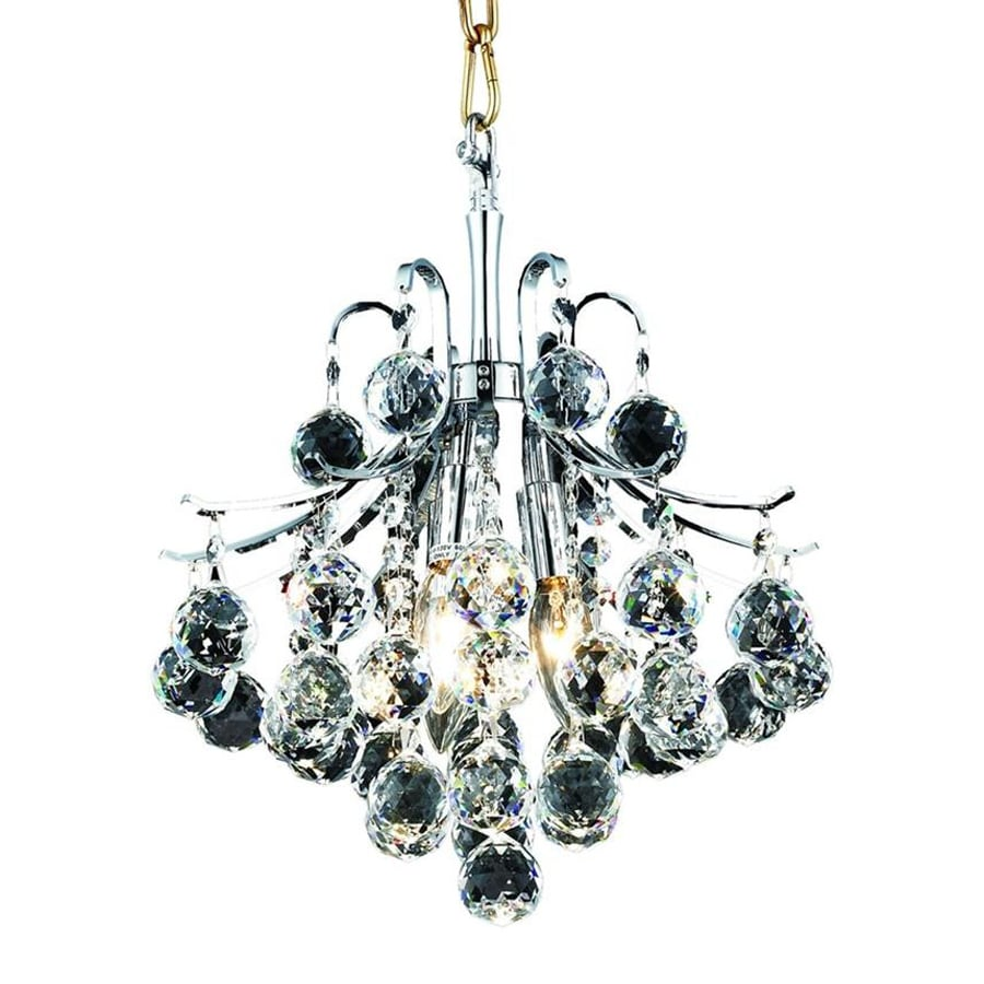 Elegant Lighting Toureg 12-in Chrome Crystal Single Crystal Pendant