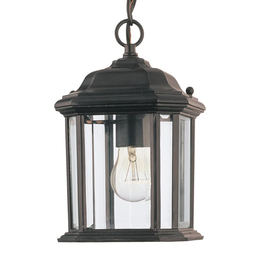Shop Sea Gull Lighting Kent 105 In Black Outdoor Pendant