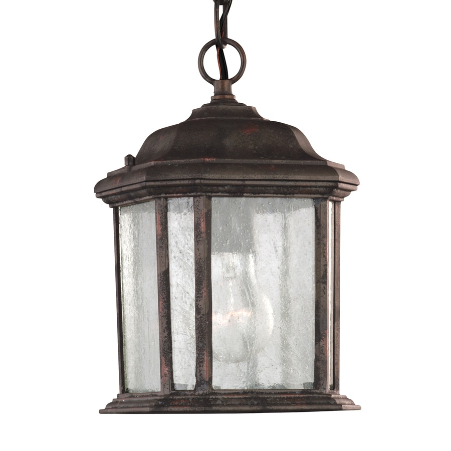 Shop Sea Gull Lighting Kent 10 5 In Oxford Bronze Outdoor Pendant Light At Lo