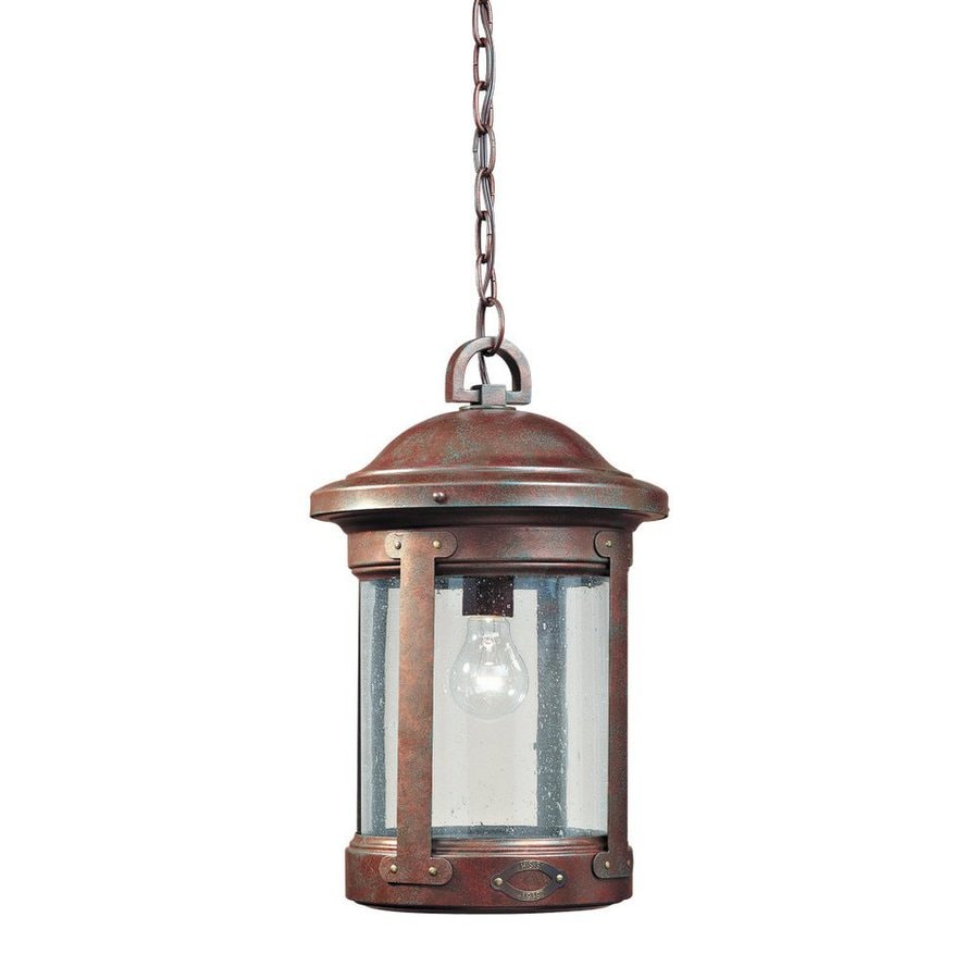 Outdoor Hanging Lanterns Lowes: Shop Sea Gull Lighting HSS CO-OP 16.75-in Weathered Copper