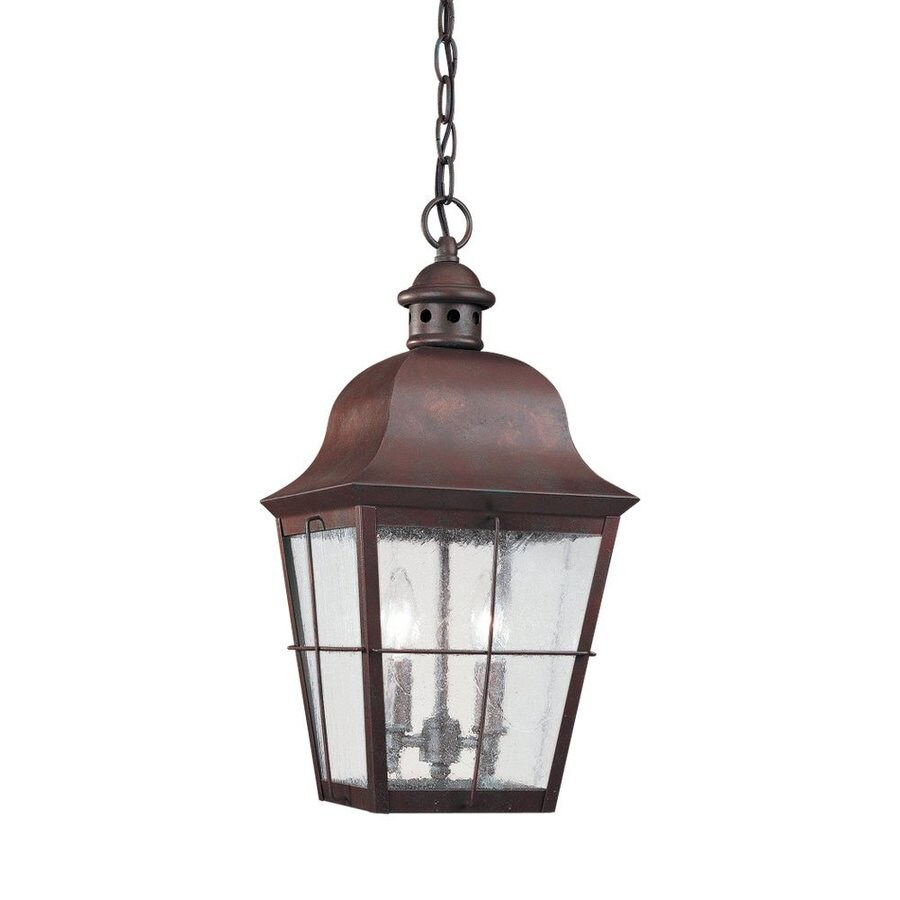 Sea Gull Lighting Chatham 19-in Weathered Copper Outdoor Pendant Light