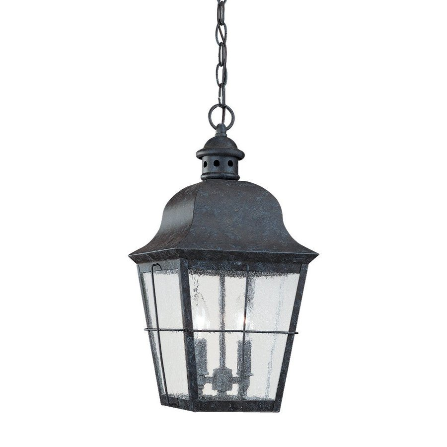 lighting chatham 19 in oxidized bronze outdoor pendant light at lowes. Black Bedroom Furniture Sets. Home Design Ideas